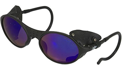 Mountaineers Black Leather - Julbo Sherpa Mountain Sunglasses, Spectron 3 Lens, Black