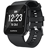 Gosuper Newest Soft Silicone Sport Replacement Strap for Garmin Forerunner 35