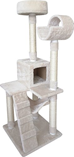 Penn Plax 54'' SLS Climate Pocket Deluxe 5 Level Cat Tree with multiple scratching posts