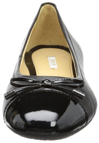 Geox D LOLA A D93M4A08566C9999 - Bailarinas de cuero para mujer Negro (Noir (Black))