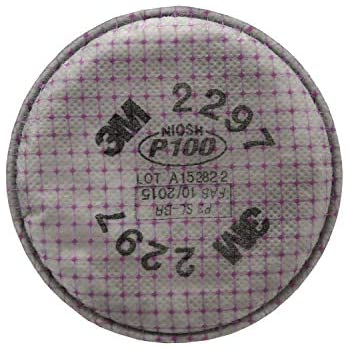 3M Advanced Particulate Filter 2297, P100, with Nuisance Level Organic Vapor Relief