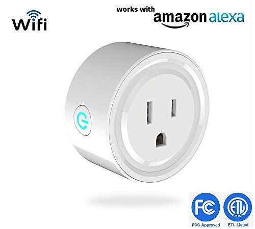 Smart Switch nigeeks Wi-Fi Plug Wireless Mini Socket Outlet Compatible with Alexa, Remote Control your Devices from Anywhere,No Hub Required, App for Android and IOS with Timer Functions and more