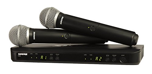 Pg58 Handheld - Shure BLX288/PG58 Dual Channel Handheld Wireless System with 2 PG58 Vocal Microphones, H10
