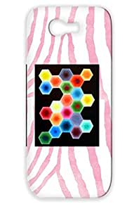 Art Design Painting Drawing Yellow Hexagon Blue Red Orange Abstract Cover Case For Sumsang Galaxy Note 2 Hex
