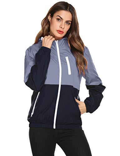 Romanstii Womens Lightweight Bomber Jacket Packable Active Outdoor Hooded Short Coat by Romanstii