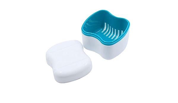 Bogget Funda para dentaduras Caja de Almacenamiento de dentaduras de baño Europeo Dentadura con Filtro, con Copa de dentadura, Caja de dentadura, Recipiente de Soporte Dental: Amazon.es: Hogar