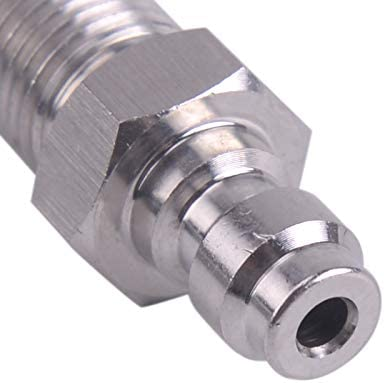LETAOSK 8mm Male Quick Head M10*1 Thread Connection Check Valve One Way Foster Fill Nipple Kit