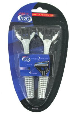 2-Pack 4-Blade Men's Disposable Razors 24 pcs sku# 364204MA by bulk buys