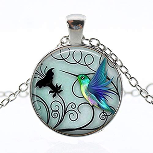 Charm Pendant Necklace, Hummingbird Necklace, New Hummingbird Jewelry Blue (ONE, Multicolor) by SUNSEE ELECTRONICS (Image #1)