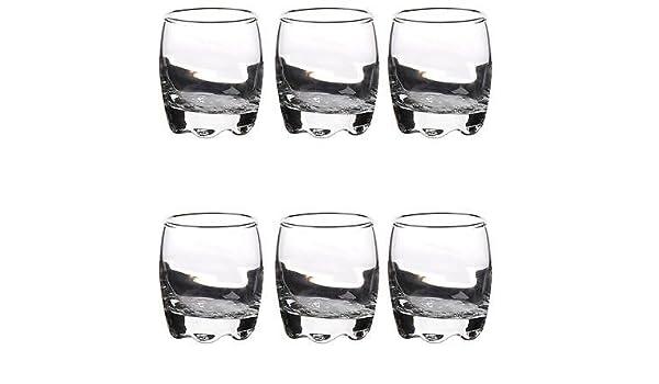 Juego de 6/tazas de cristal de postre cuencos para aperitivos plato Mini Shot vaso gafas 8CL