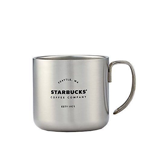 Silver Starbucks Coffee Company Handle Mug 12 oz