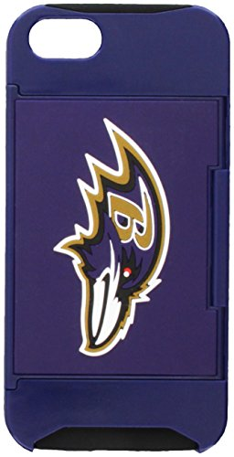 - Forever Collectibles NFL Hideaway Credit Card iPhone 5 Hard Case - Retail Packaging - Baltimore Ravens