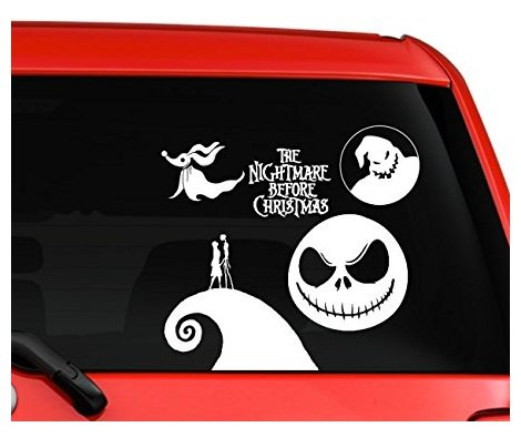 Nightmare before Christmas Jack skellington and Sally Zero dog car truck laptop window decal sticker white - Sticker Graphic - Auto, Wall, Laptop, ()