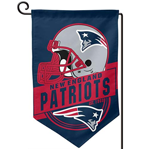 Marrytiny Design Colorful Garden Flags American Football Team New England Patriots Durable Double Sided 12.5 x 18 Inch 100% Polyester Home House Wall Flag Decor
