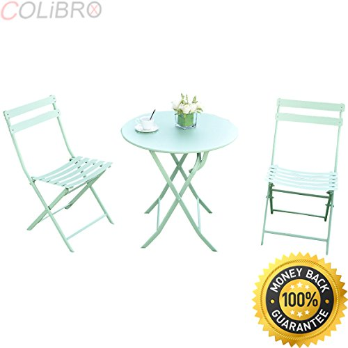 COLIBROX--3 PC Folding Table Chair Set Outdoor Patio Garden Pool Backyard Furniture Green. best folding patio table and chair set amazon. folding outdoor dining table. outdoor folding table walmart. (Pool Furniture Amazon)