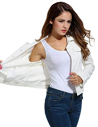 Breasted Donna Outwear Puro Giaccone Di Coat Moda Lunga Bavero Fit Bianca Colore Eleganti Single Slim Business Autunno Casual Corto Cappotto Manica Giacca Primaverile qvTrCwq