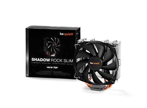 be quiet! BK010 Shadow Rock Slim  - CPU Cooler - 160W TDP- Intel LGA 775 / 1150 / 1155 / 1156 / 1366 / 2011 & AMD Socket AM2 (+) / AM3 (+) / FM1 / FM2 / 754 / - Dark Rock