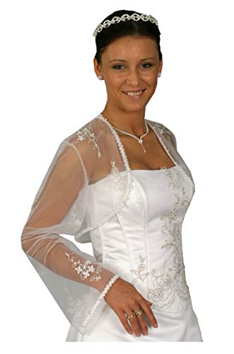 Bianco Donna Manica brautmode Giacca Deine Lunga 4xTqw8IXw7
