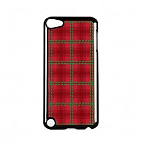 Tartan Red Black Hard Plastic Case Snap-On Protective Back Cover for Apple? iPod Touch 5th Gen by Gadget Glamour + FREE Crystal Clear Screen Protector