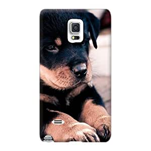High Quality Phone Cover For Samsung Galaxy Note 4 With Unique Design Realistic Cute Rottweiler Puppy Skin