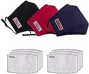 4PCS Reusable Face Bandanas, Washable Face Cotton Adjustable Outdoors Face Màsc Bandanas for Unisex Adults,for
