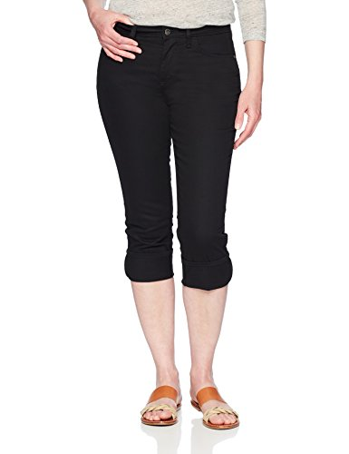 - Riders by Lee Indigo Women's Rolled Cuff Midrise Denim Capri, Black, 10 AVG