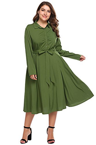 50s belted dress - 5
