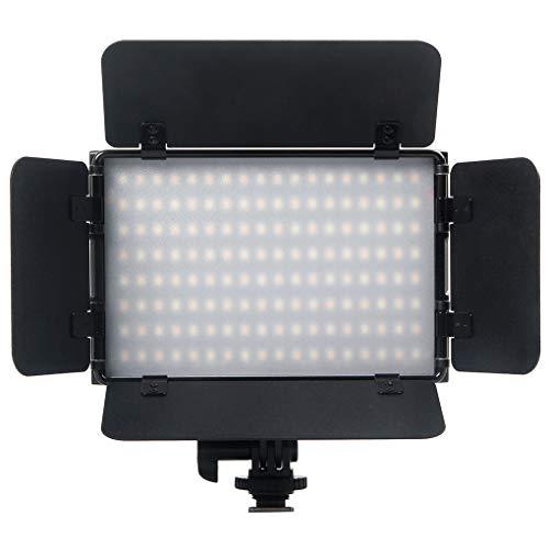 AUCD 15W Salida regulable 3200K-5600K Brillo ajustado Cámara LED digital/Luz de video para Canon, Nikon, Pentax y cámara...