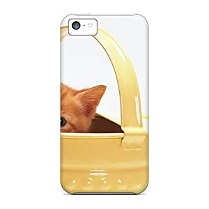 Fashion Protective Kitten In A Watering Cases Covers For Iphone 5c