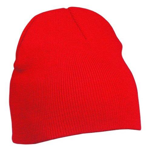 Beanie Strickmütze, rot