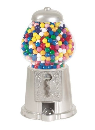 American Gumball Machine AGM11 Silver 15 in. old fashion gumball machine