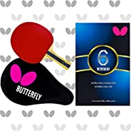 Butterfly 603 Table Tennis Racket Set - 1 Ping Pong Paddle – 1 Ping Pong Paddle Case - Gift Box - ITTF Approve