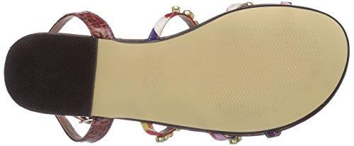 Buffalo 314010 SNAKE PU JH4128 4 - Sandalias de vestir de material sintético para mujer multicolor - Mehrfarbig (PURPLE 49)