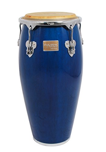Tycoon Percussion 12 1/2 Inch Master Classic Series Blue Tumba With Single Stand by Tycoon Percussion