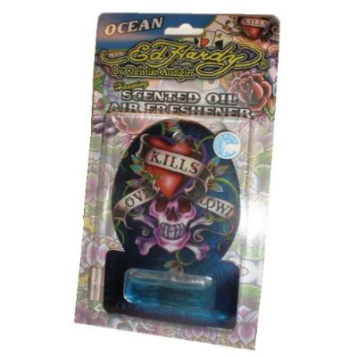 Ed Hardy Air Fresheners - Ed Hardy Love Kills Slowly Scented Oil Air Freshener - For Auto, Home, Office