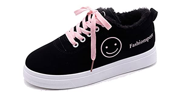 76866ce929a555 Respeedime Black Shoes Women s Flat Sports Students Casual Shoes   Amazon.ca  Shoes   Handbags