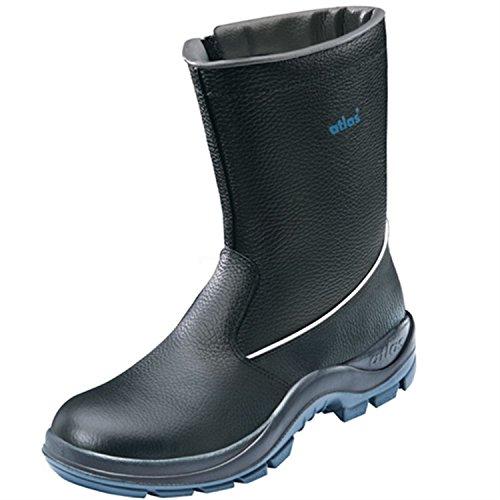 Atlas-Sécurité Bottes d'hiver CI 800S2| Noir | imperméable & doublé | la sécurité Chaussures avec Fermeture Éclair, Bottes de sécurité, professionnelle, Bottes de travail Chaussures