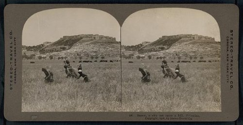Photo: Photo of Stereograph,Sanur,City Set Upon a Hill,Palestine,West Bank,c1908]()