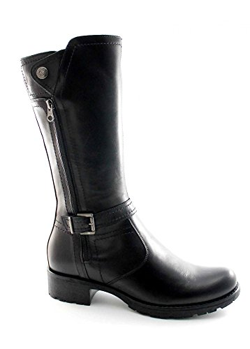 la 616463 negras de mujer JARDINES BLACK cara doble botas cremallera de de Nero la BcSP065qw
