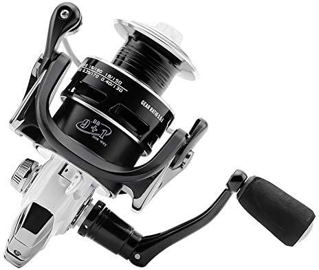 Carrete de Spinning de Pesca Ligero, 5.5:1 9 1 rodamientos de ...