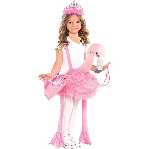 Suit Yourself Flamingo Ride-On Costume for Children, Standard Size, Includes a Flamingo with Attached Shoulder Straps ()