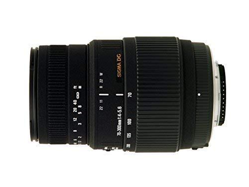 Sigma 70-300mm f/4-5.6 DG Macro Motorized Telephoto Zoom Lens for Nikon Digital SLR Cameras (Renewed) (Sigma 70 300mm F 4 5-6 Nikon)