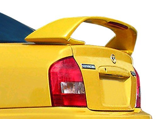 (JSP Rear Wing Spoiler Compatible with 1999-2003 Mazda Protege Factory Style Primed with LED 339130)
