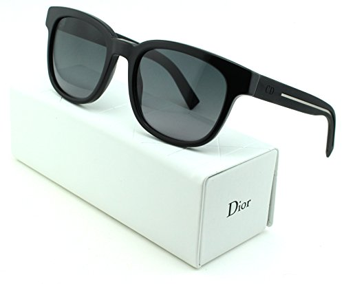 Dior Black Tie 183/S Square Unisex Sunglasses (Black Frame, Grey Gradient Lens - Men Glasses Dior