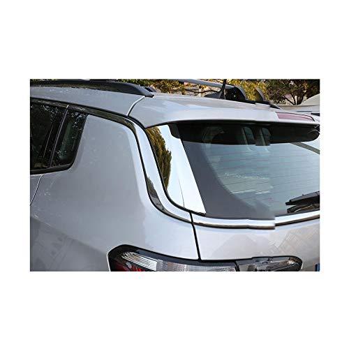 Dreiecksabdeckung Zierleiste Garnier-Dekoration f/ür Kompass 2017 2018 2019 rong-car1 2 St/ück Chrom Heckscheibe Spoiler Seitenfl/ügel