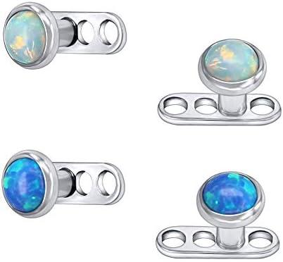 Dermal Piercing Dermal Top Body Jewelry. Surgical Steel Dermal Piercing Jewelry Body Piercing