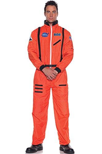 Underwraps Orange Astronaut Suit Plus Size Costume, XX-Large ()