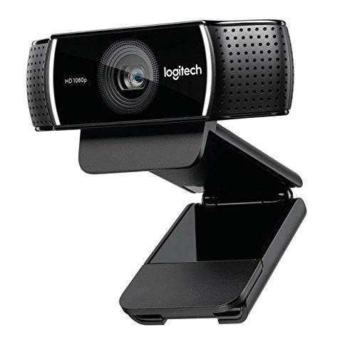 Logitech C922 Pro Stream Webcam (1080p/30FPS oder 720p/60FPS, mit Mikrofon und Stativ) schwarz