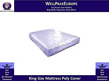 King Size Mattress Clear Plastic Cover Bag Strong 100 Micron