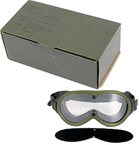 Goggles O.D. Green G.I. Type Military Style G.I. Sun Wind & Dust - Goggles D&g